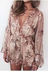Lust Lux Playsuit Rose Gold - Lovecy - 4