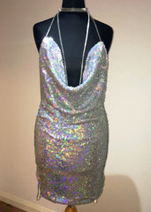 Kendall Sequin Dress - Silver Holo - Lovecy - 6