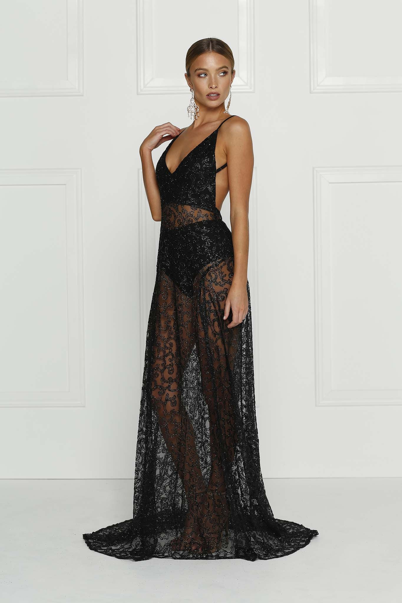 Rozay Gown - Black - Lovecy - 3