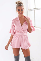 Hold Me Close Playsuit - Blush - Lovecy - 2