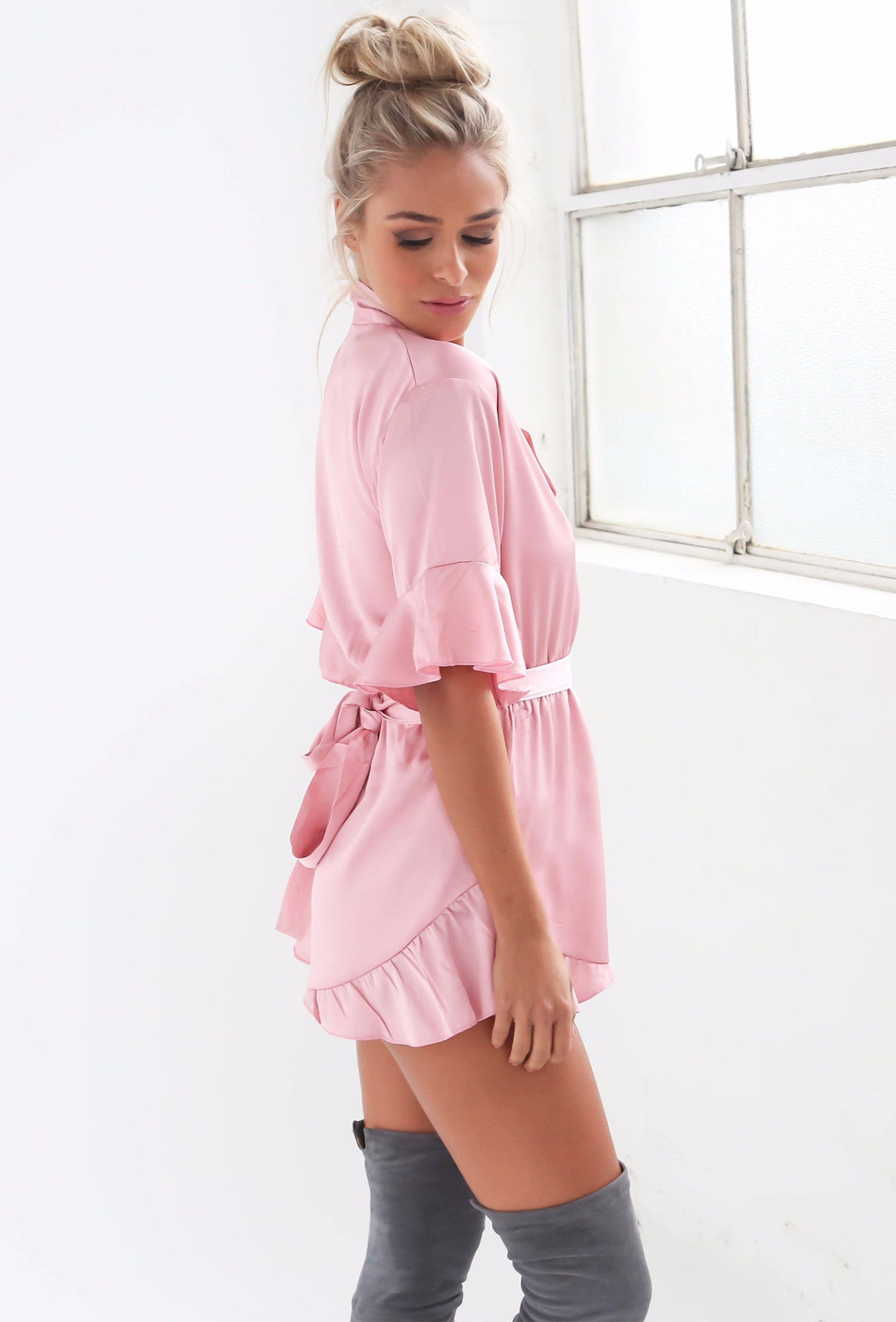 Hold Me Close Playsuit - Blush - Lovecy - 3
