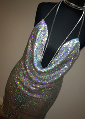 Kendall Sequin Dress - Silver Holo - Lovecy - 7