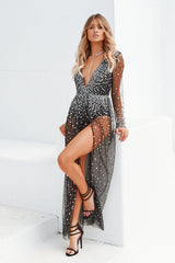 Silver Skies Maxi Dress