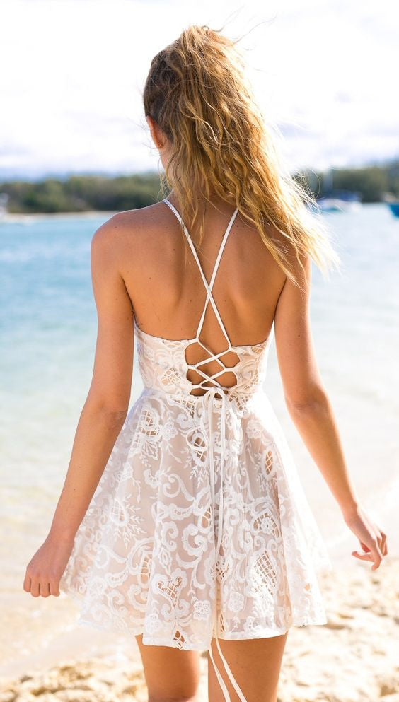 Santorini Lace Dress - Lovecy - 4