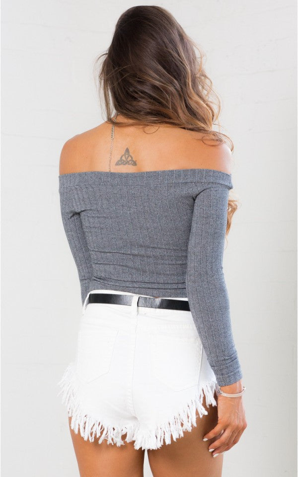 Keep It Going Crop Top - Grey - Lovecy - 3