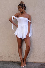 Bassett Playsuit - White