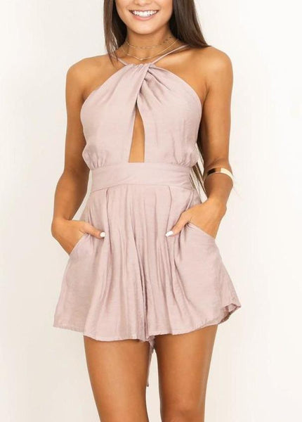 Shine Together Playsuit - Nude