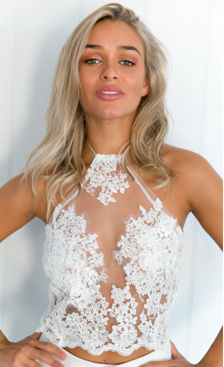 Adore You Lace Crop White - Lovecy - 2