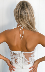 Adore You Lace Crop White - Lovecy - 4