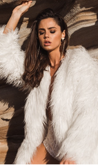 Portofino Faux Fur Jacket White - Lovecy - 6