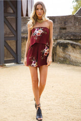 Year Long Summer Playsuit Bordeaux - Lovecy - 5