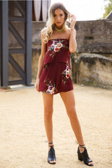 Year Long Summer Playsuit Bordeaux - Lovecy - 6