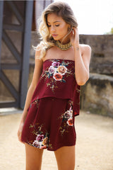 Year Long Summer Playsuit Bordeaux - Lovecy - 3