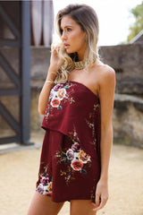 Year Long Summer Playsuit Bordeaux - Lovecy - 4
