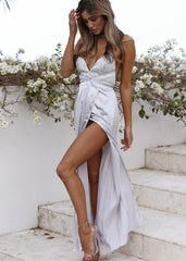 Moving Mountains Maxi Dress - Silver