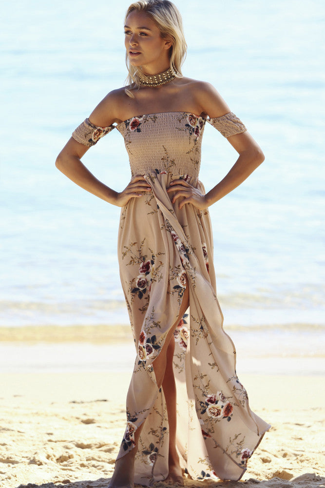 Inside Job Maxi Dress Mocha - Lovecy - 2