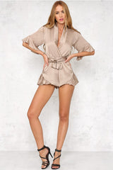 Hold Me Close Playsuit - Nude - Lovecy - 3