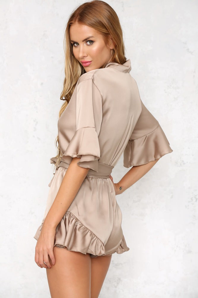 Hold Me Close Playsuit - Nude - Lovecy - 2