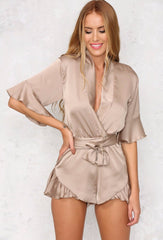 Hold Me Close Playsuit - Nude - Lovecy - 1