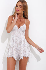 Dream Playsuit - White - Lovecy - 3