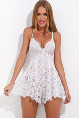 Dream Playsuit - White - Lovecy - 1