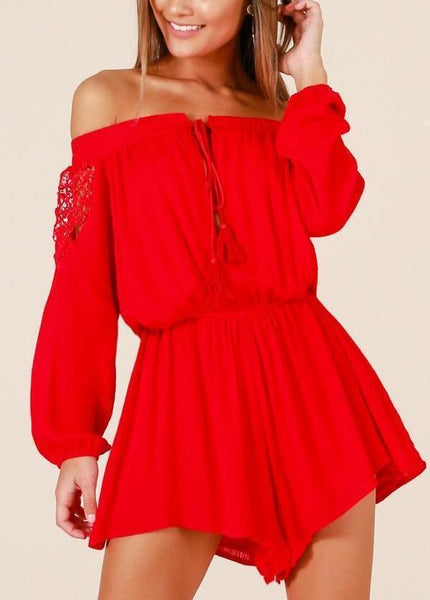 Brandy Playsuit - Red