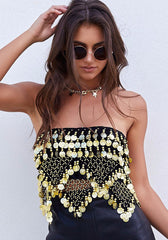 Festival Wrap Crop Black