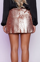 Montag Mini Skirt Champagne - Lovecy - 3