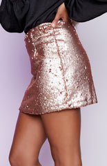 Montag Mini Skirt Champagne - Lovecy - 2