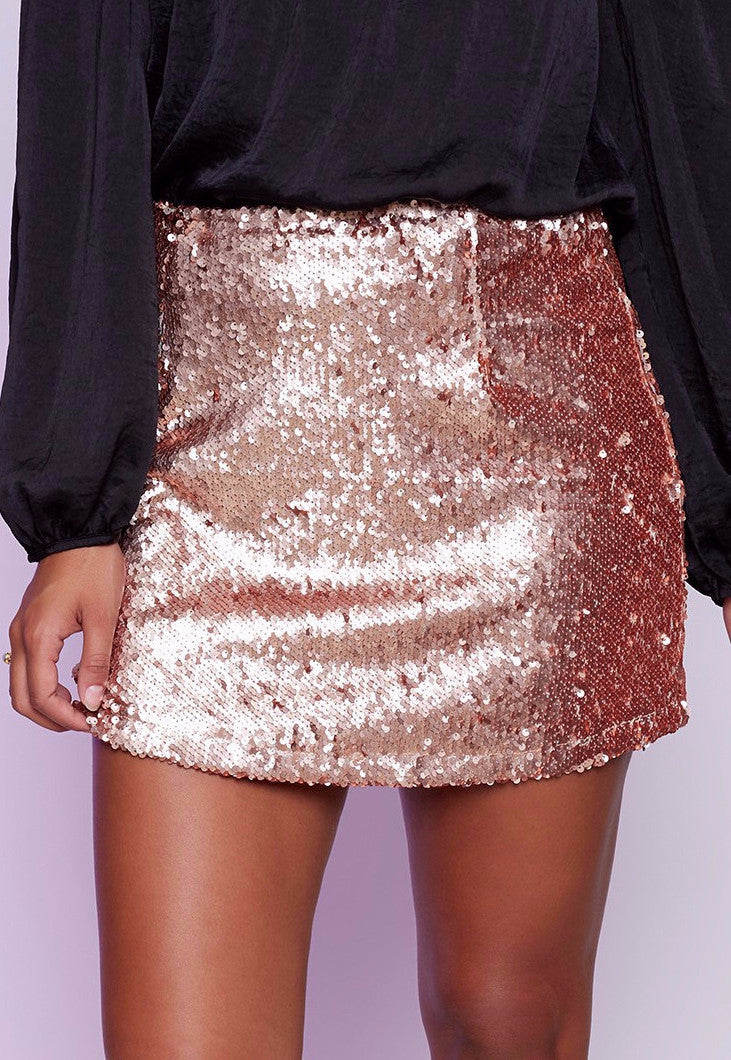 Montag Mini Skirt Champagne - Lovecy - 1
