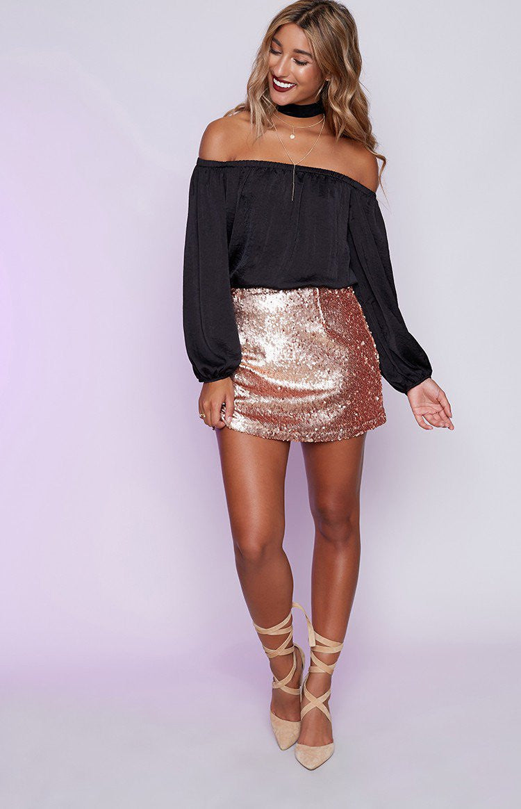 Montag Mini Skirt Champagne - Lovecy - 4