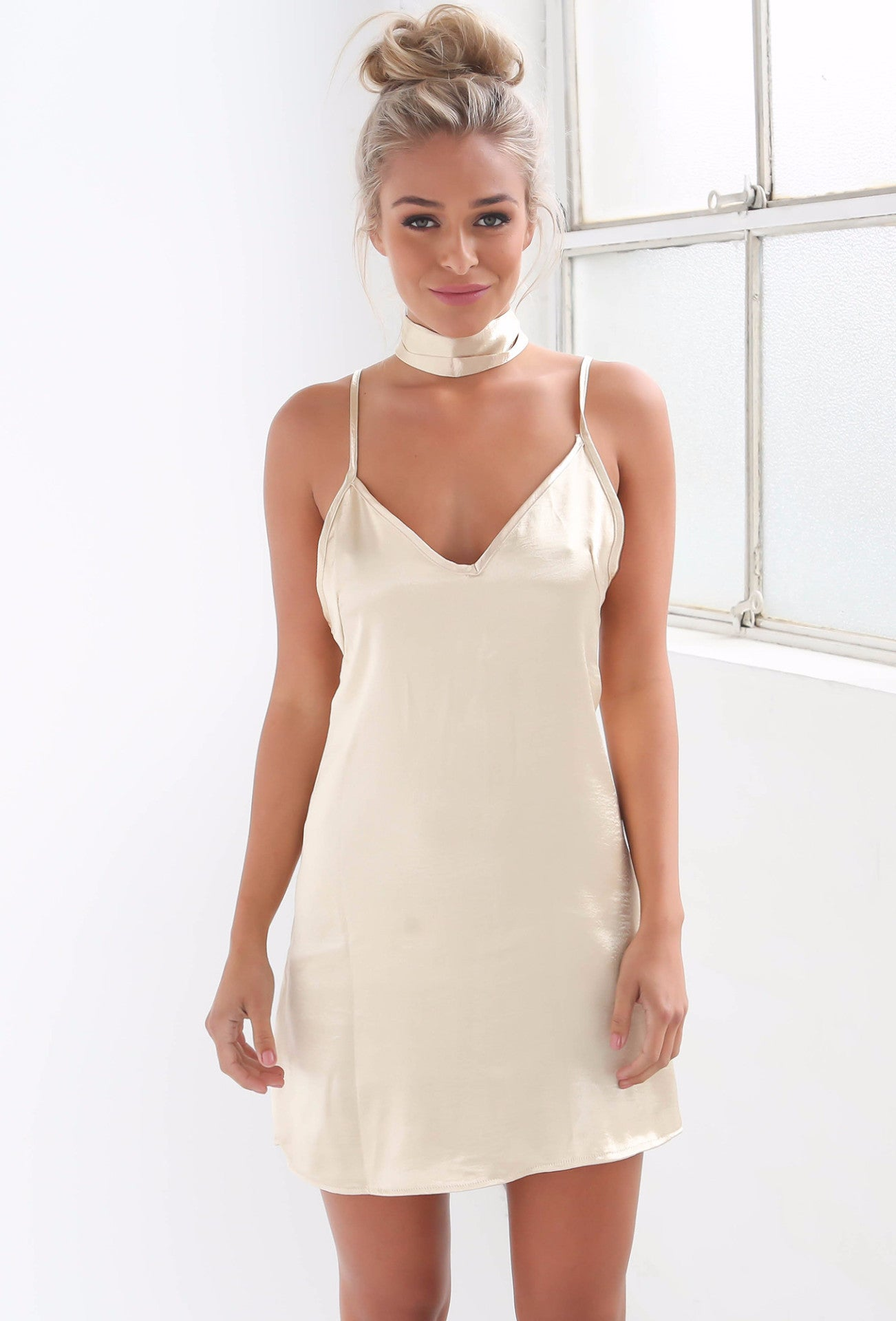 Kendall Slip Dress - Champagne - Lovecy - 5