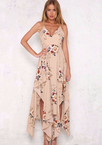 High Tea Maxi Dress - Mocha