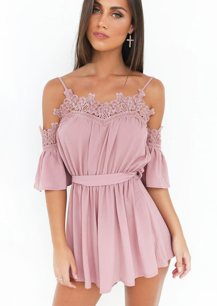 Sweet Tea Playsuit - Pink