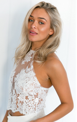 Adore You Lace Crop White - Lovecy - 3
