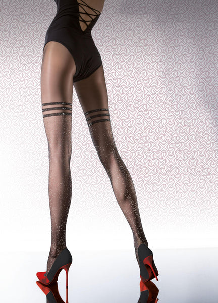 TIGHTS PR- Black - FREE SHIPPING, Women Tights Stocking Hose Leggings, Fiore - Feisty Gurl