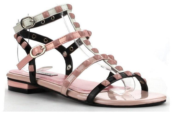 FINAL SALE - Studded Gladiator Sandal - Pink