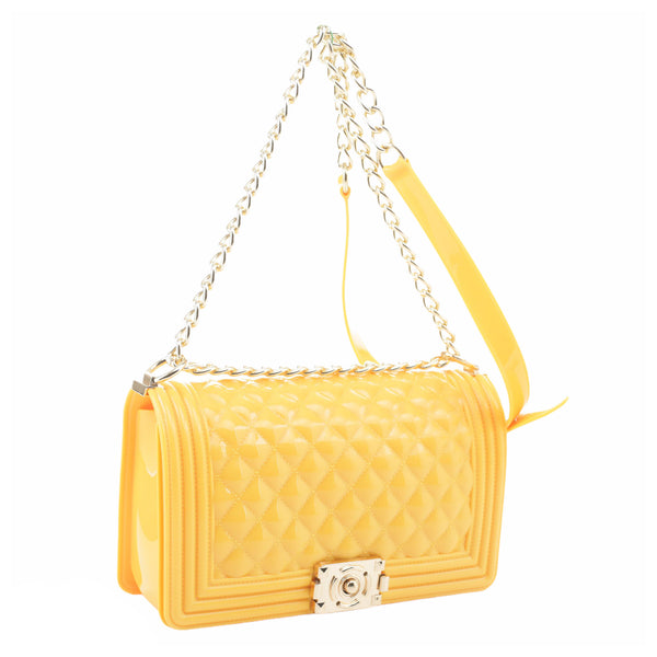 Yellow Jelly Crossbody Bag