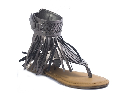 FINAL SALE - Fringe Thong Sandal