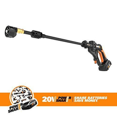 WORX WG629 Cordless Hydroshot Portable Power Cleaner, 20V Li-ion (2.0Ah), 320psi, 20V Power Share Platform