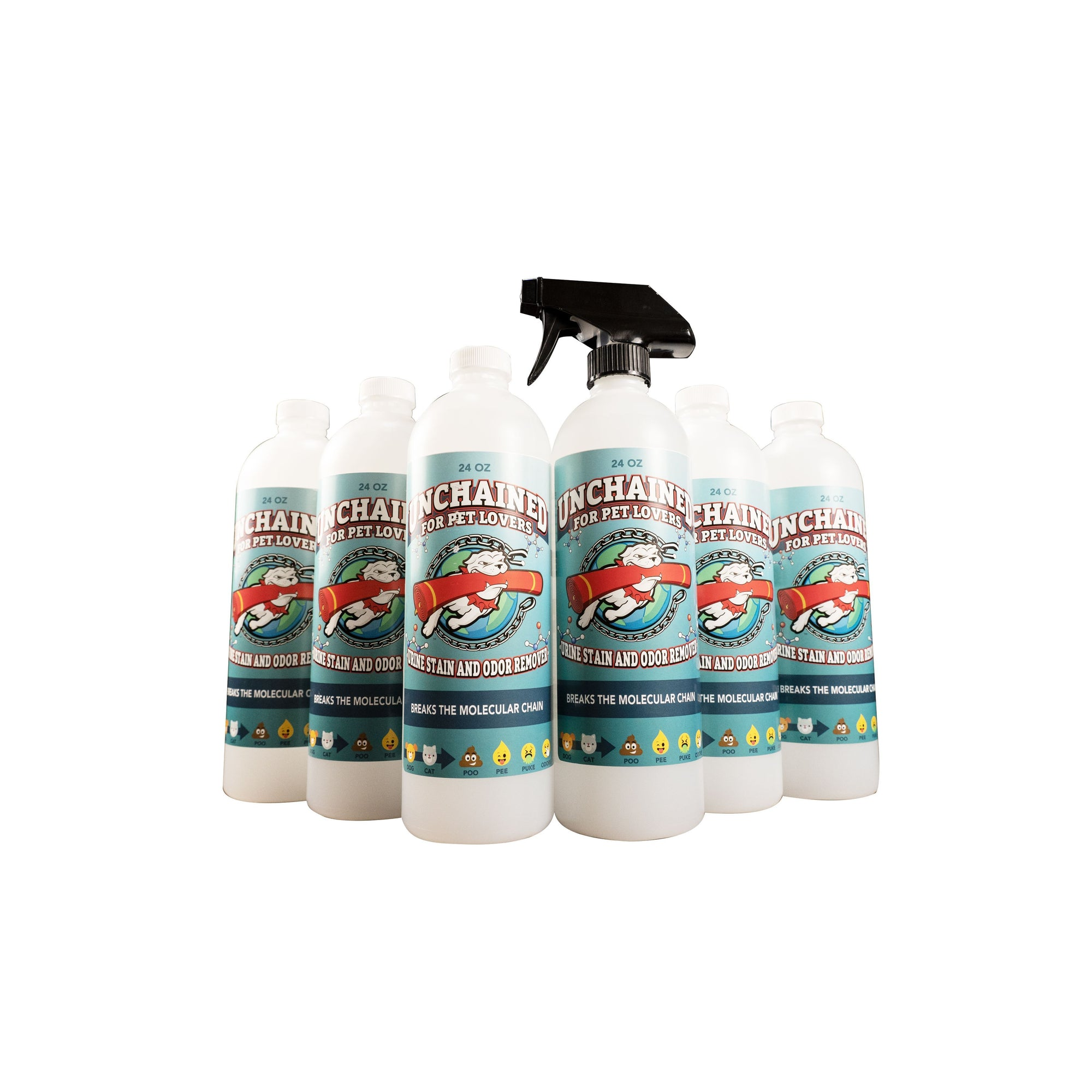 Wholesale: Unchained Pet Stain Remover 24oz 6 Pack (Min. 2 Cases)