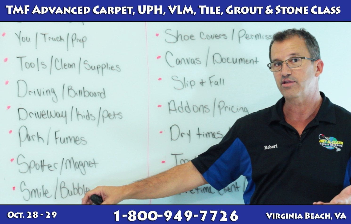 Advanced Carpet, UPH, VLM, Tile, Grout & Stone Class - TMF Store: Carpet Cleaning Equipment & Chemicals from TruckMountForums