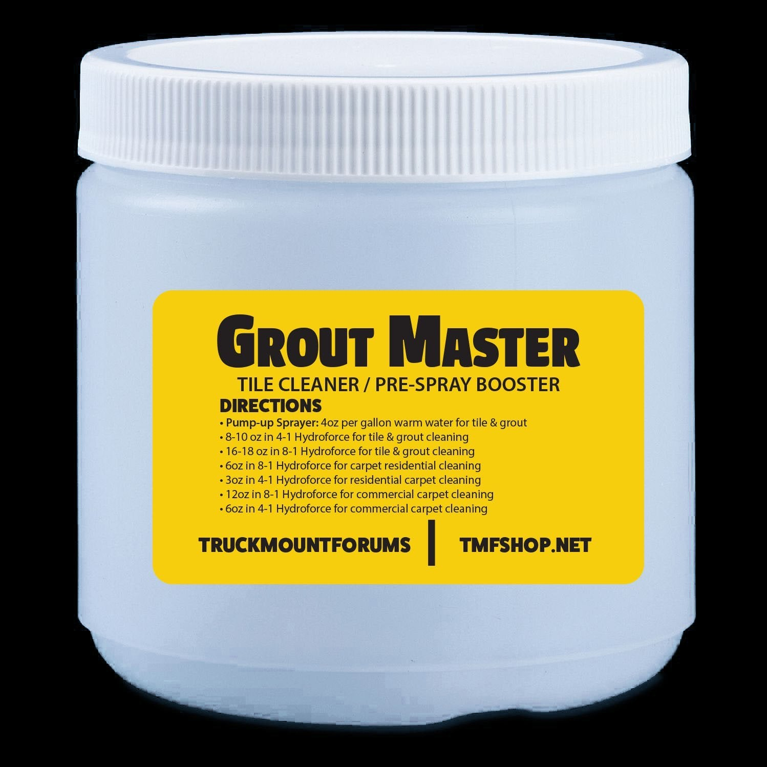 GroutMaster Sample (16oz) - TMF Store: Carpet Cleaning Equipment & Chemicals from TruckMountForums