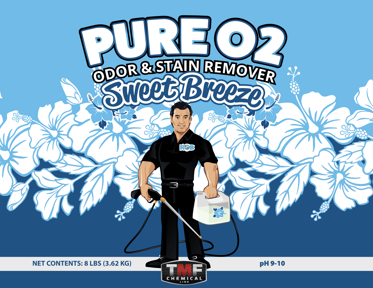 Pure O2 Sweet Breeze Odor Stain Remover (OSR) 8lb