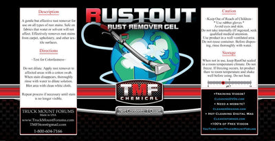 Rust Out - 1 Quart - TMF Store: Carpet Cleaning Equipment & Chemicals from TruckMountForums