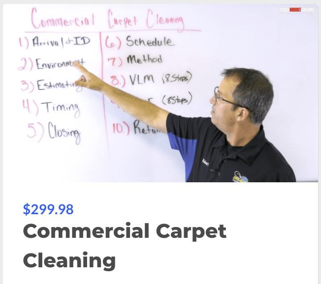 Commercial Carpet Cleaning Course