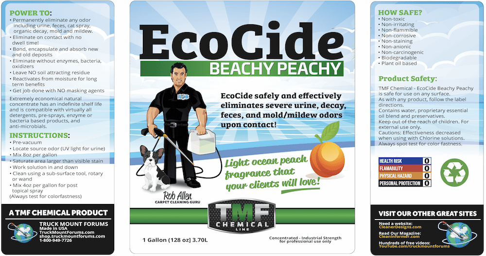 EcoCide Beachy Peachy *FREE SHIPPING LIMITED TIME* - TMF Store: Carpet Cleaning Equipment & Chemicals from TruckMountForums