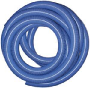 "Heavy Duty Vac Hose  2.5"" x 50' - Blue - No Cuffs"
