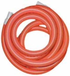 "Heavy Duty Vacuum Hose - 1.5"" x 50' - Orange - With Cuffs"