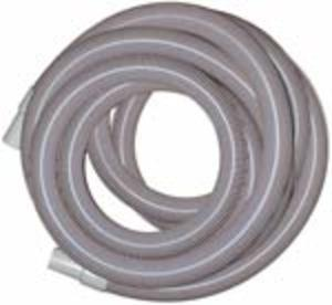 "Heavy Duty Vacuum Hose  2"" x 50' - Gray - With Cuffs"